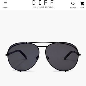 Diff Koko matte black sunglasses